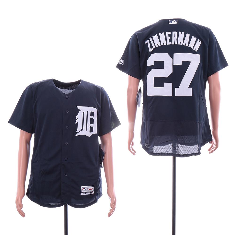 Tigers 27 Jordan Zimmermann Navy Flexbase Jersey