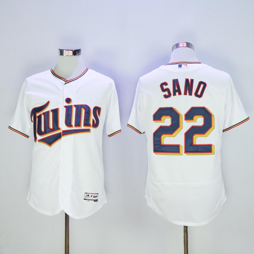 Twins 22 Miguel Sano White Flexbase Jersey