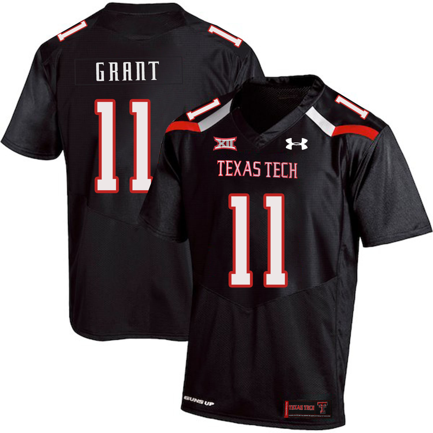 Texas Tech Red Raiders 11 Jakeem Grant Black College Football Jersey