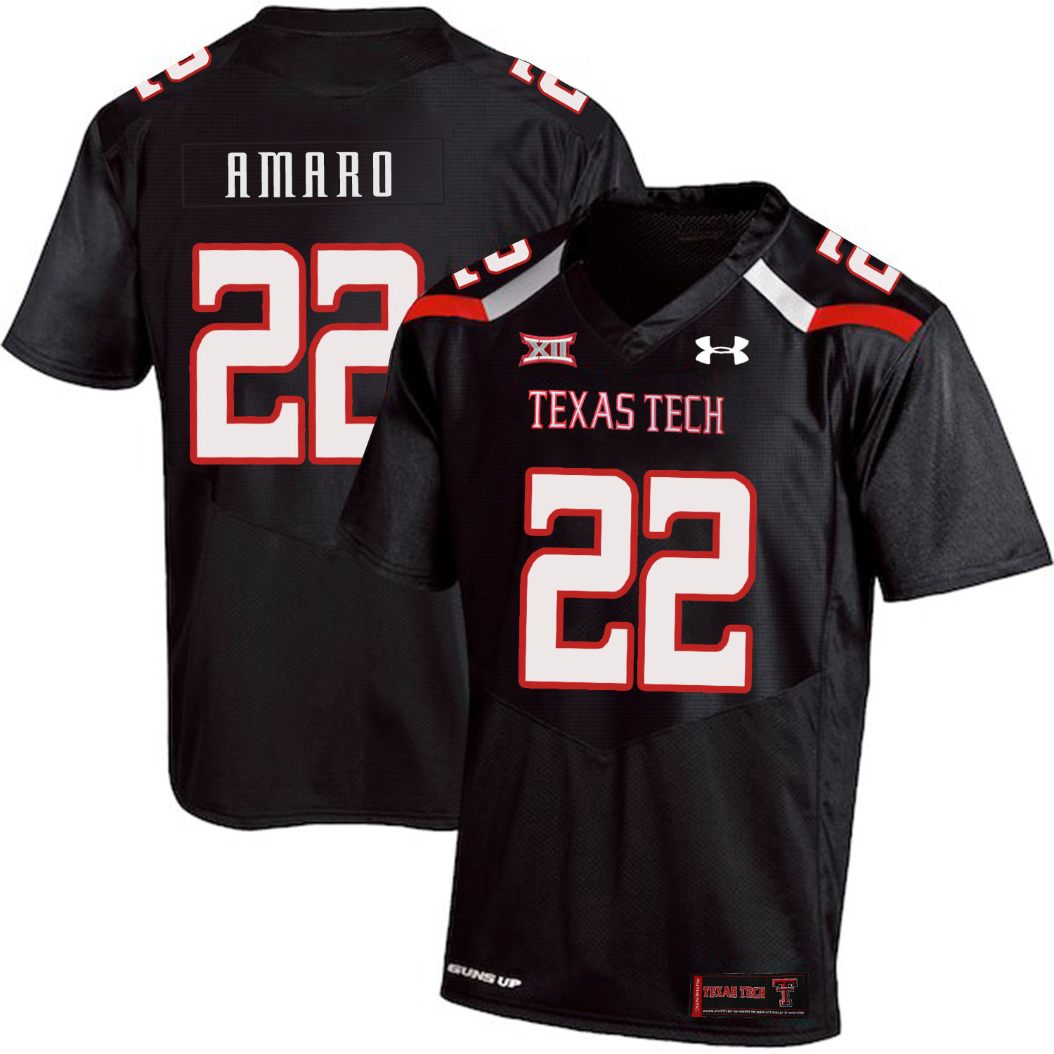 Texas Tech Red Raiders 22 Jace Amaro Black College Football Jersey