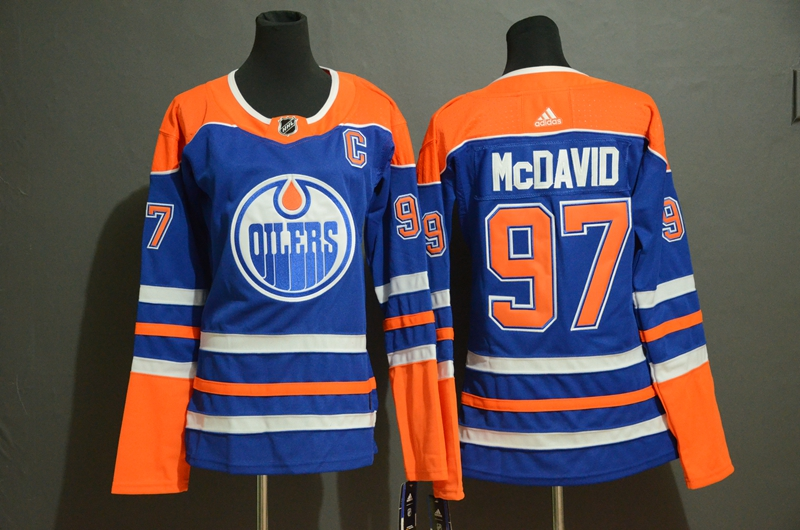 Oilers 97 Connor McDavid Royal Youth Adidas Jersey