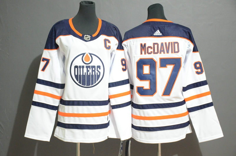Oilers 97 Connor McDavid White Youth Adidas Jersey