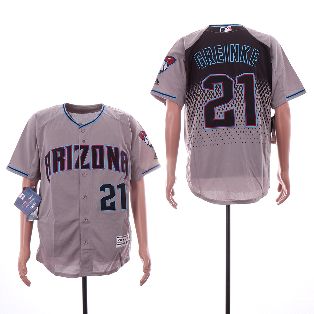 Diamondbacks 21 Zack Greinke Gray Teal Flexbase Jersey