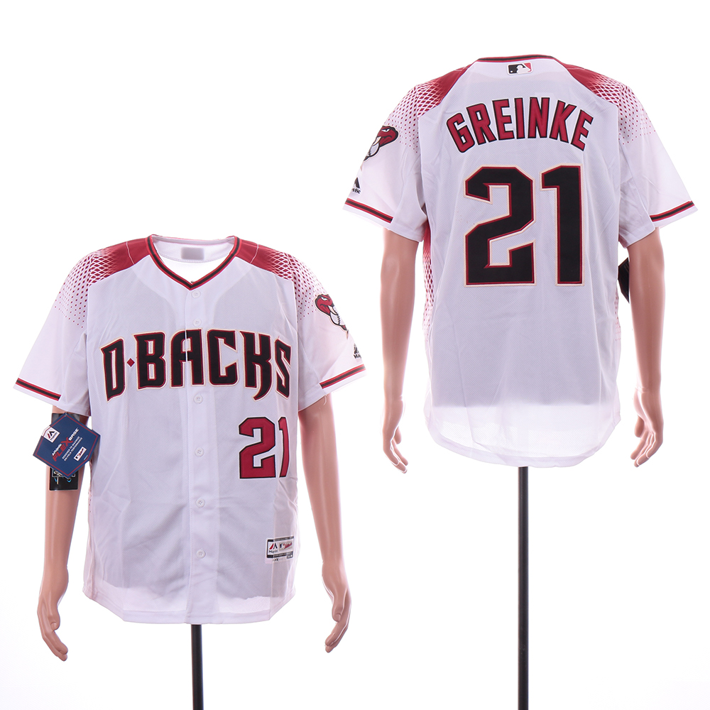 Diamondbacks 21 Zack Greinke White Flexbase Jersey
