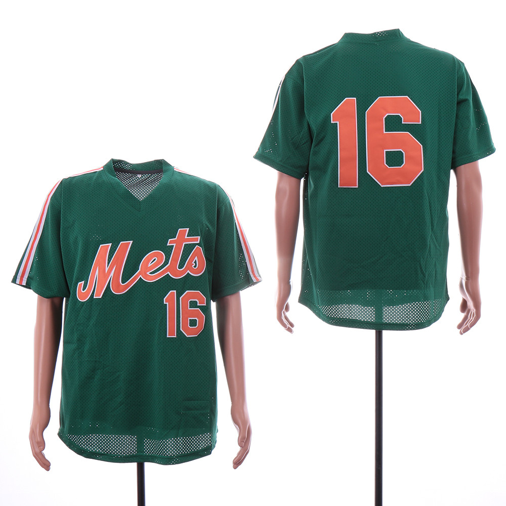 Mets 16 Dwight Gooden Green Mesh Throwback Jersey