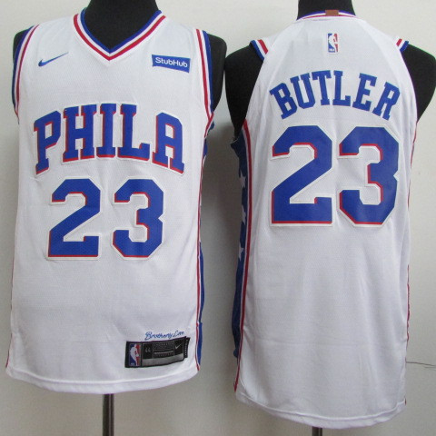 76ers 23 Jimmy Butler White Nike Authentic Jersey