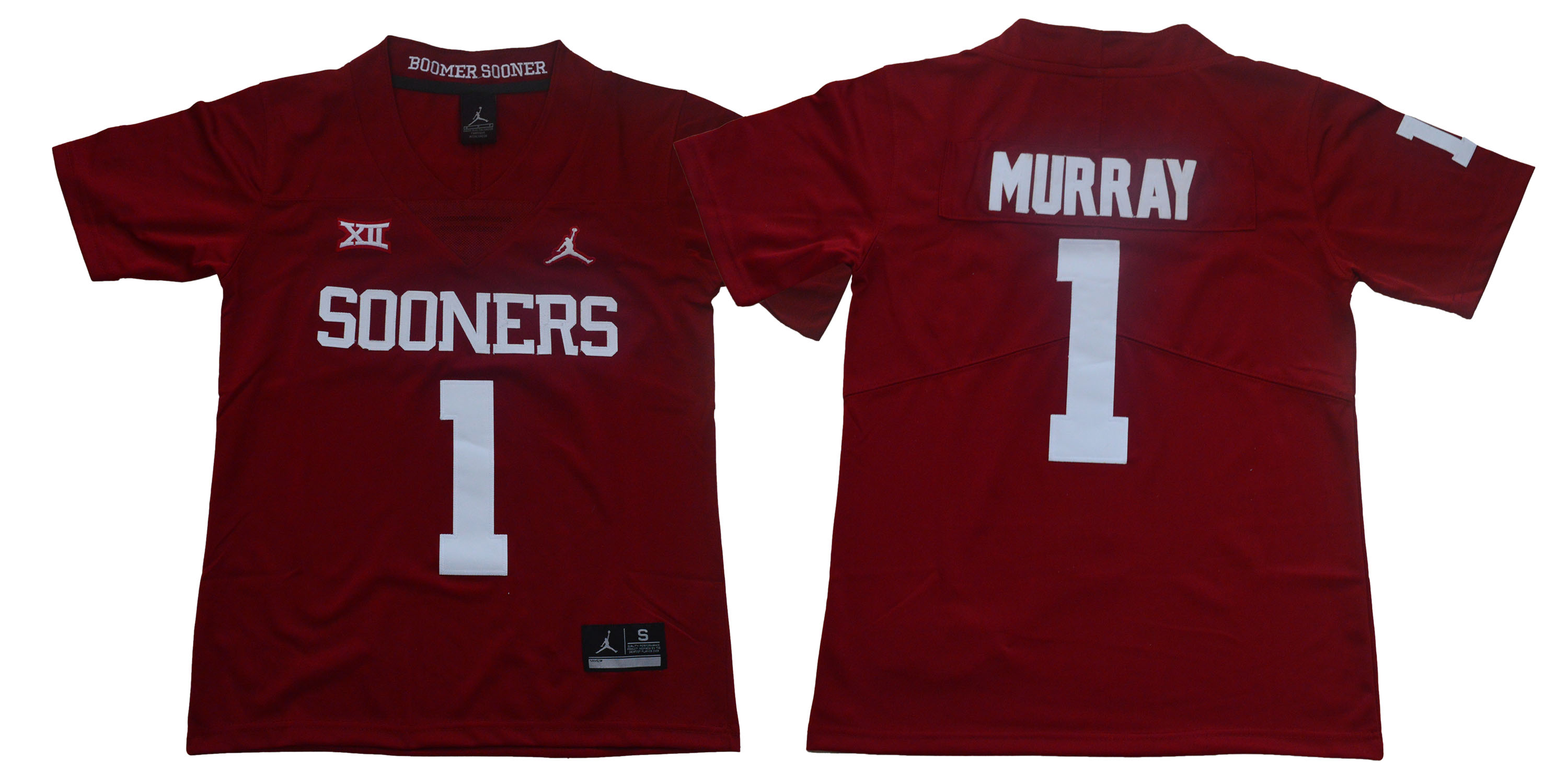 Oklahoma Sooners 1 Kyler Murray Red Youth College Football Jersey