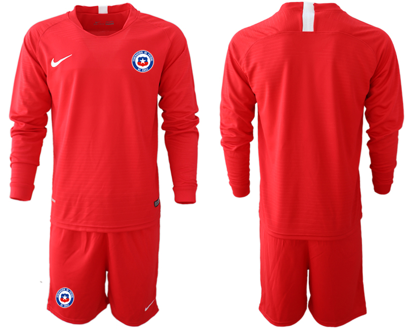 2018-19 Chile Home Long Sleeve Soccer Jersey