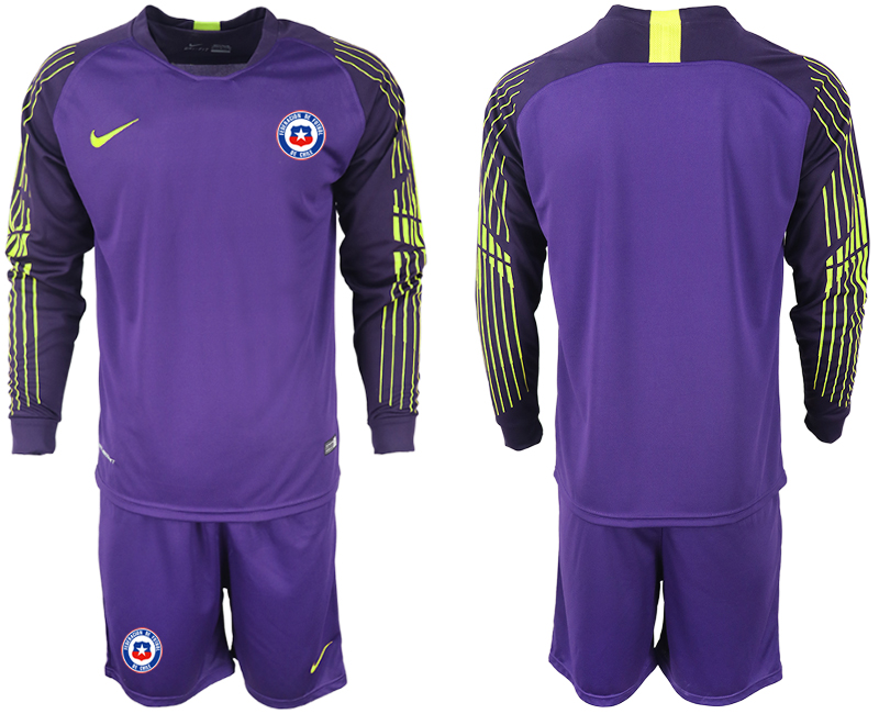 2018-19 Chile Purple Long Sleeve Goalkeeper Soccer Jersey