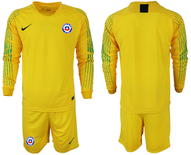 2018-19 Chile Yellow Long Sleeve Goalkeeper Soccer Jersey