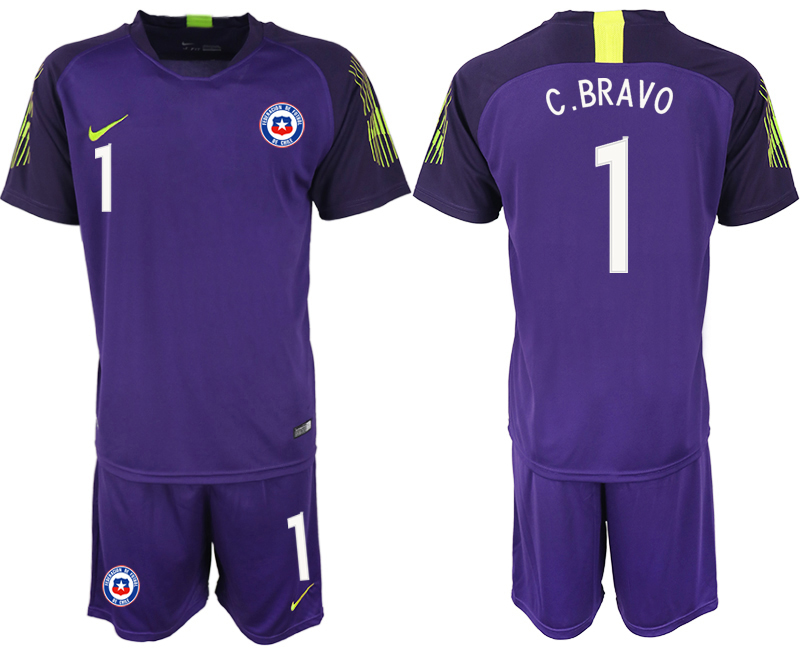 2018-19 Chile 1 C.BRAVO Purple Goalkeeper Soccer Jersey