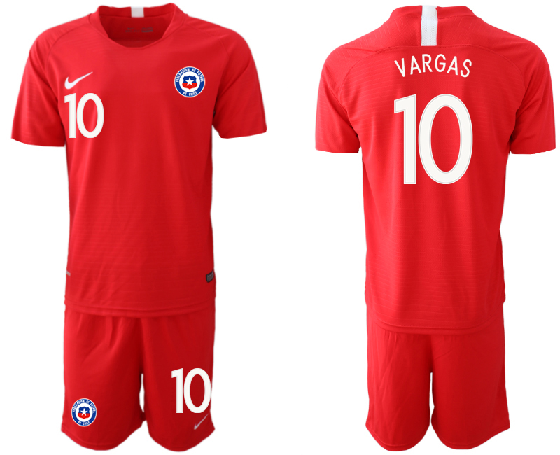 2018-19 Chile 10 VARGAS Home Soccer Jersey