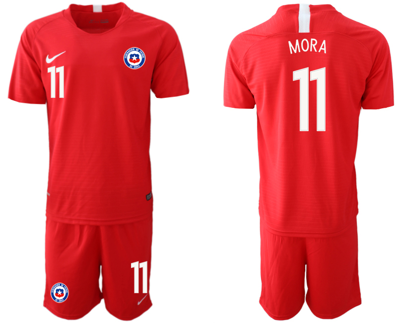 2018-19 Chile 11 MORA Home Soccer Jersey