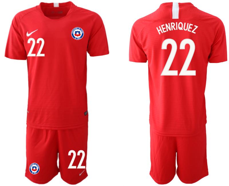 2018-19 Chile 22 HENRIQUEZ Home Soccer Jersey