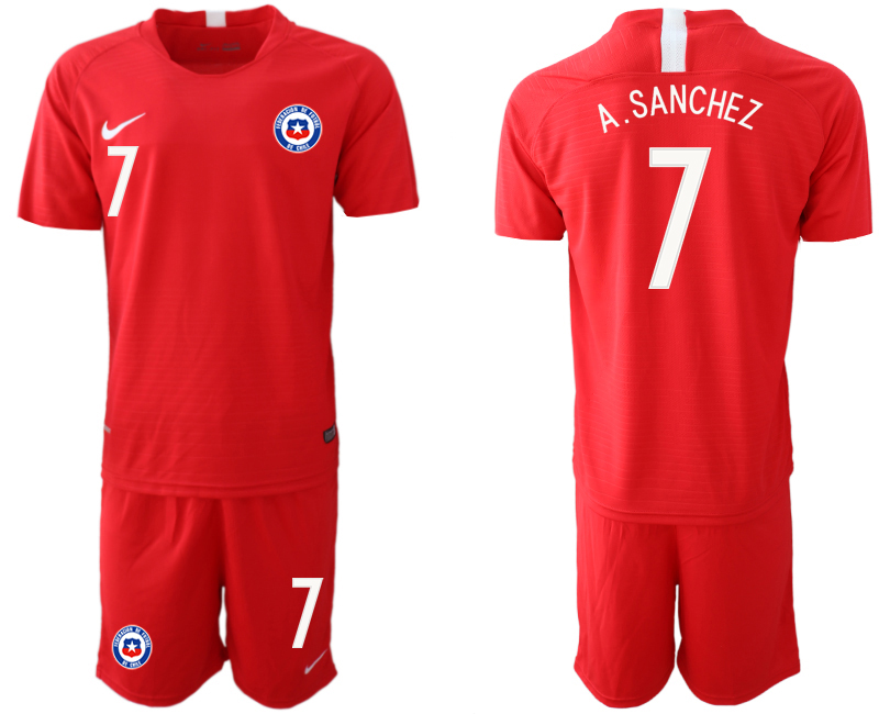 2018-19 Chile 7 A. SANCHEZ Home Soccer Jersey