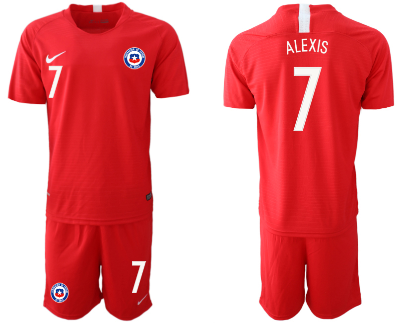 2018-19 Chile 7 ALEXIS Home Soccer Jersey