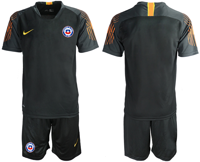 2018-19 Chile Black Goalkeeper Soccer Jersey