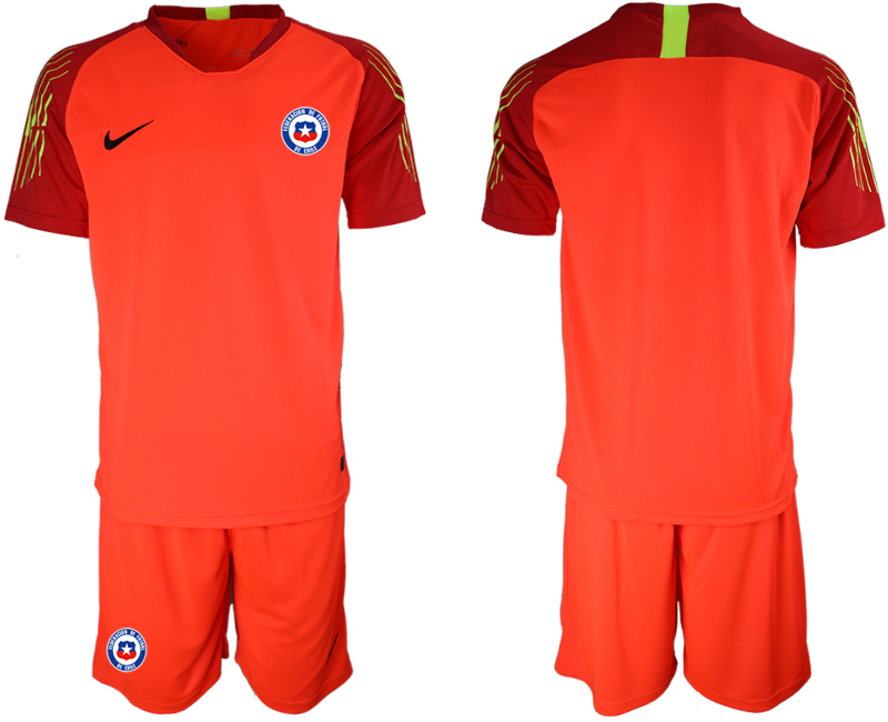 2018-19 Chile Red Goalkeeper Soccer Jersey