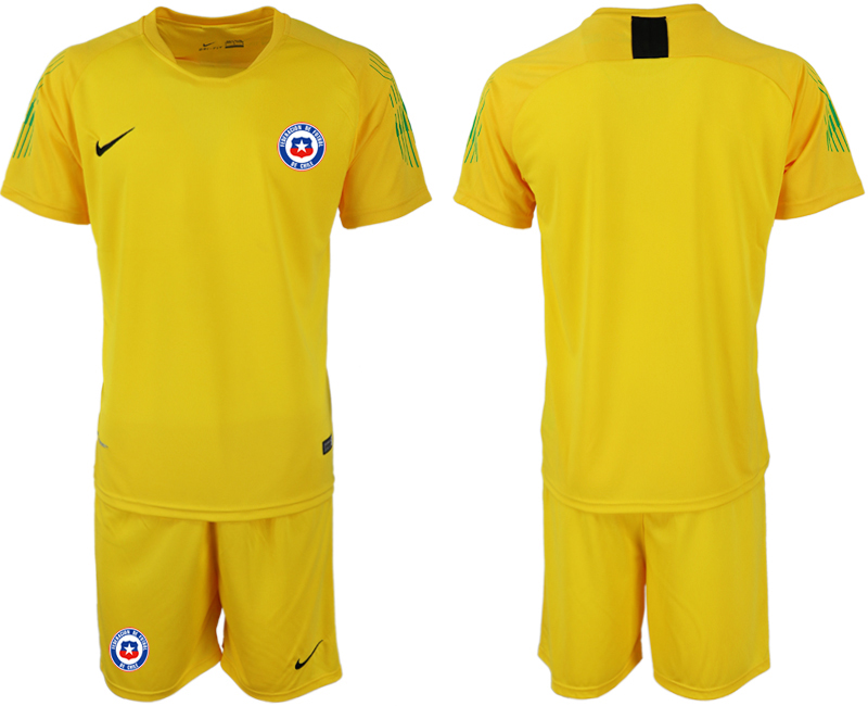 2018-19 Chile Yellow Goalkeeper Soccer Jersey