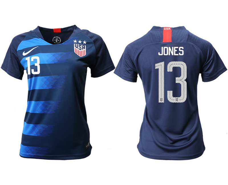 2018-19 USA 13 JONES Away Women Soccer Jersey