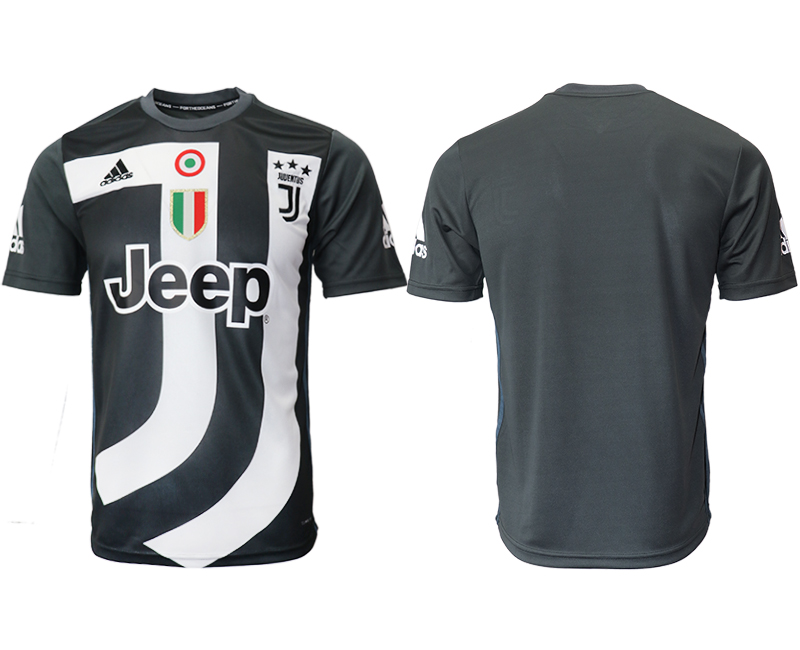 2018-19 Juventus Black Training Soccer Jersey