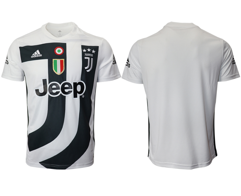 2018-19 Juventus White Training Soccer Jersey