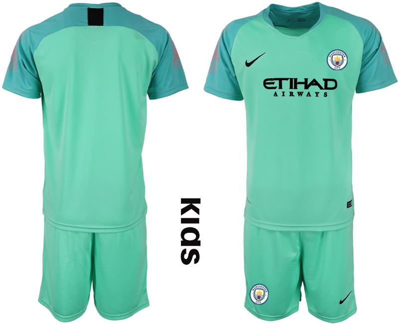 2018-19 Manchester City Green Youth Goalkeeper Soccer Jersey