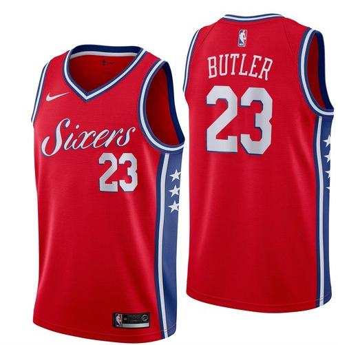 76ers 23 Jimmy Butler Red Nike Swingman Jersey