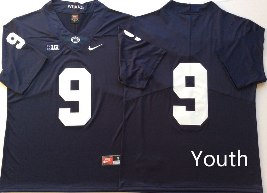 Penn State Nittany Lions 9 Trace McSorley Navy Youth Nike College Football Jersey