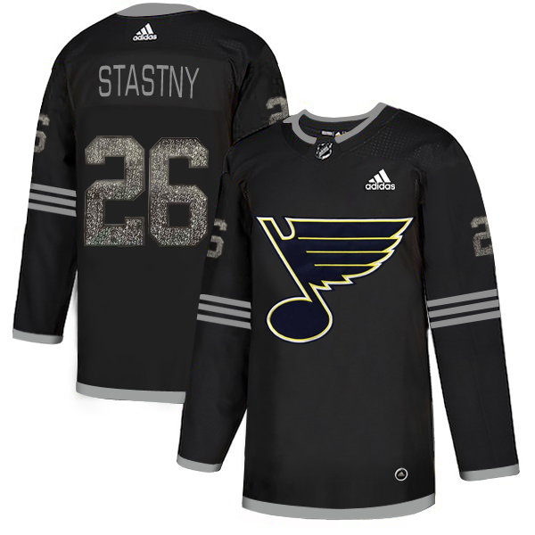 Blues 26 Paul Stastny Black Shadow Adidas Jersey