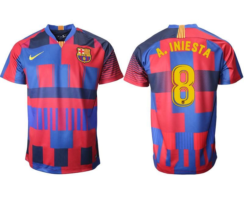 2018-19 Barcelona 8 A. INIESTA 20th Anniversary Stadium Soccer Jersey