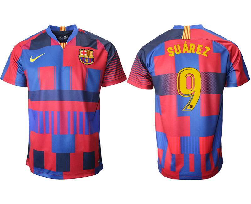 2018-19 Barcelona 9 SUAREZ 20th Anniversary Stadium Soccer Jersey