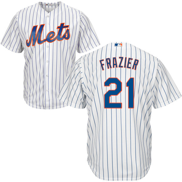 Mets 21 Todd Frazier White Cool Base Jersey