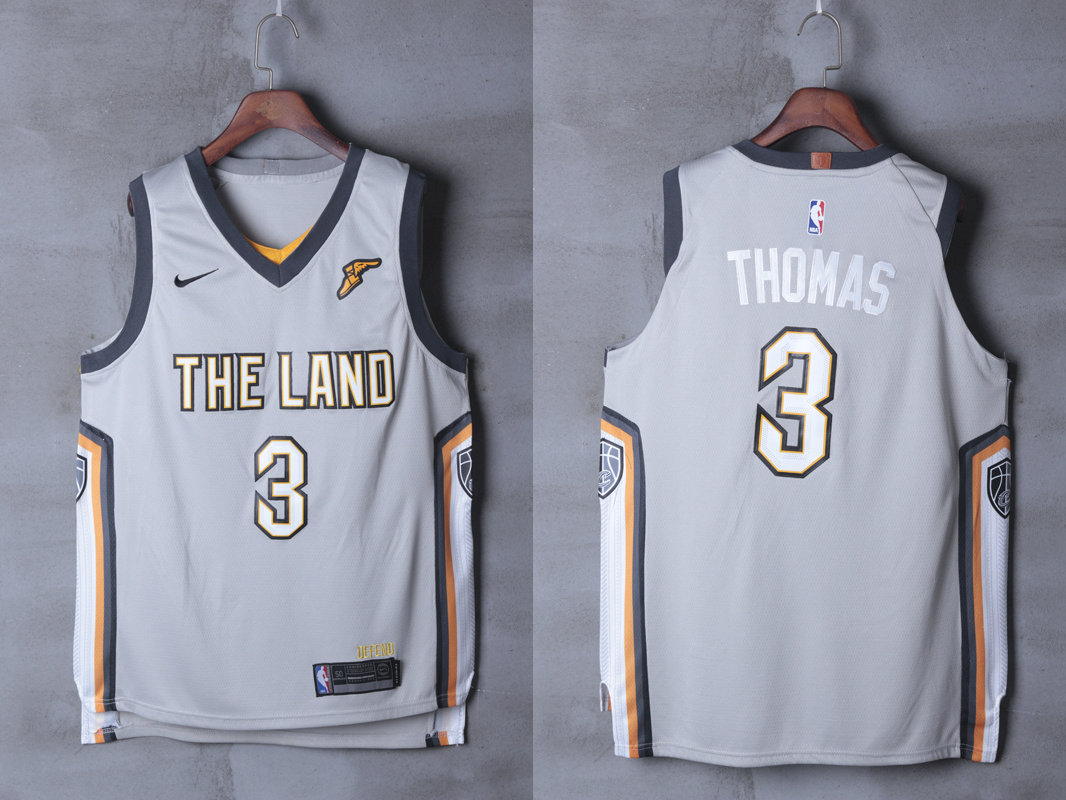 Cavaliers 3 Isaiah Thomas Silver City Edition Nike Authentic Jersey