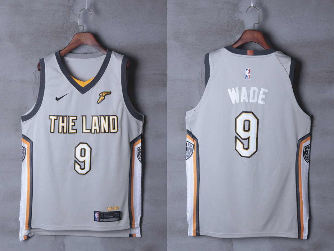 0f77ce5e19e Cavaliers 9 Dwyane Wade Silver City Edition Nike Authentic Jersey