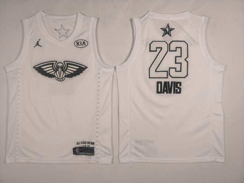 Pelicans 23 Anthony Davis White 2018 All-Star Game Jordan Brand Authentic Jersey