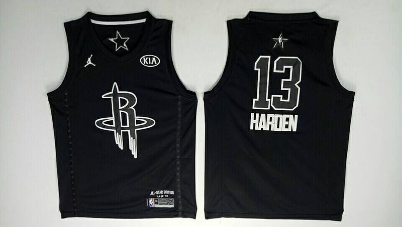 Rockets 13 James Harden Black 2018 All-Star Game Jordan Brand Authentic Jersey