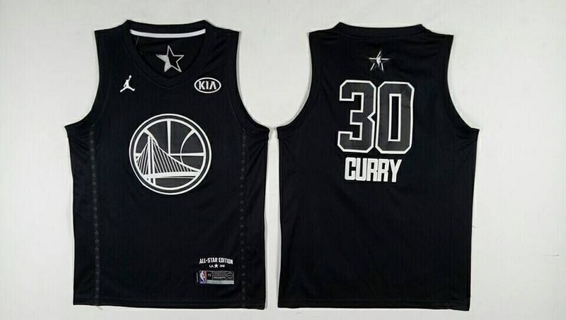 Warriors 30 Stephen Curry Black 2018 All-Star Game Jordan Brand Authentic Jersey