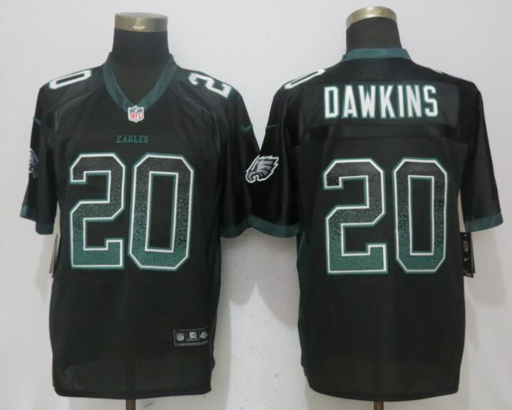 Nike Eagles 20 Brian Dawkins Black Drift Fashion Elite Jersey