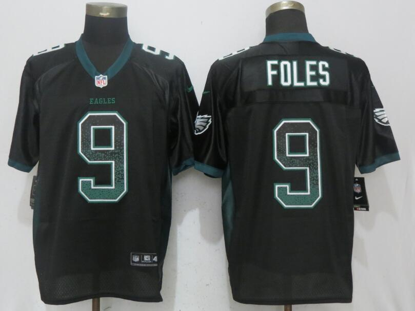 Nike Eagles 9 Nick Foles Black Drift Fashion Elite Jersey
