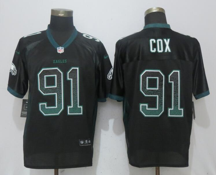 Nike Eagles 91 Fletcher Cox Black Drift Fashion Elite Jersey