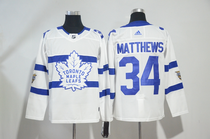 Maple Leafs 34 Auston Matthew White 2018 NHL Stadium Series Adidas Jersey