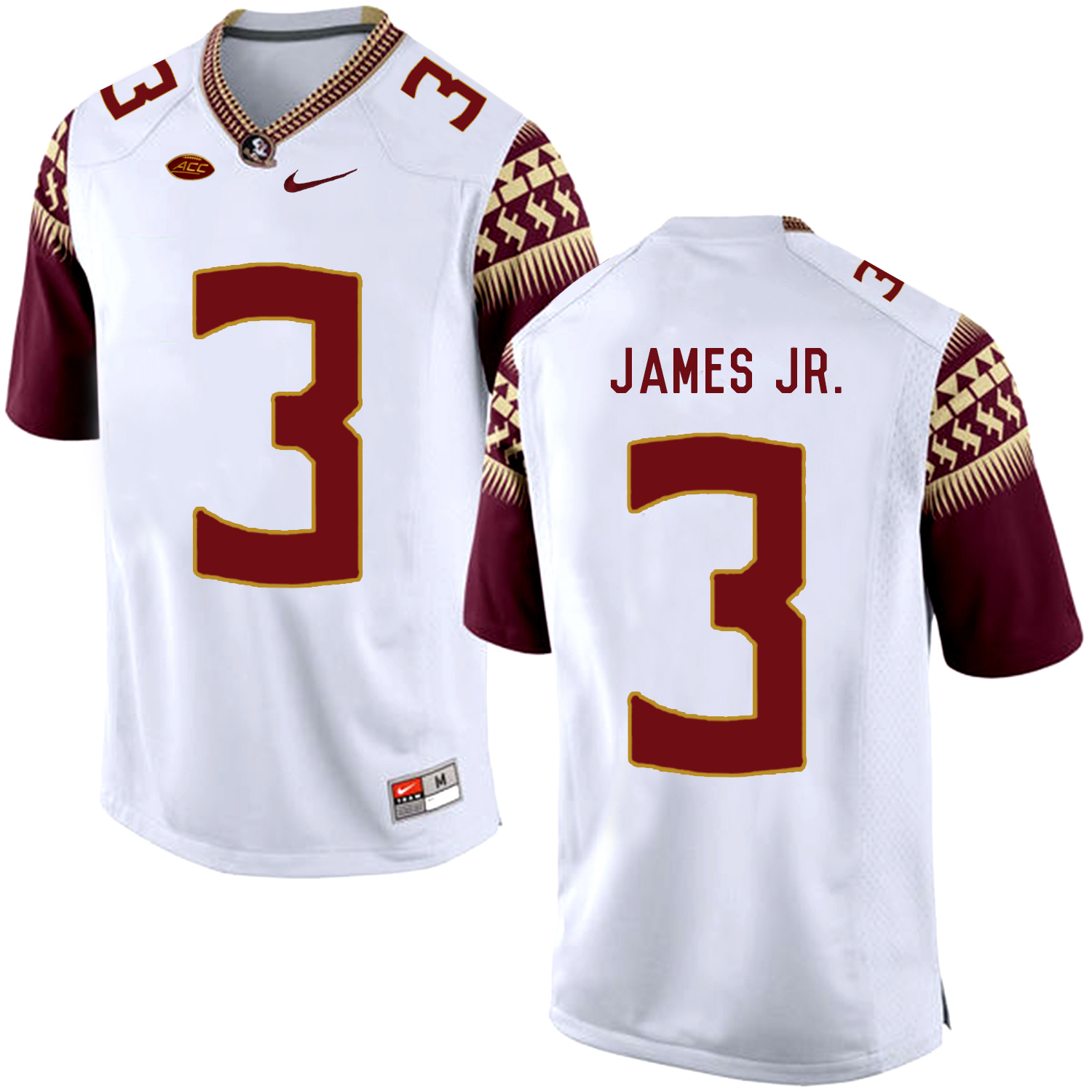 Florida State Seminoles 3 Derwin James JR. White College Football Jersey