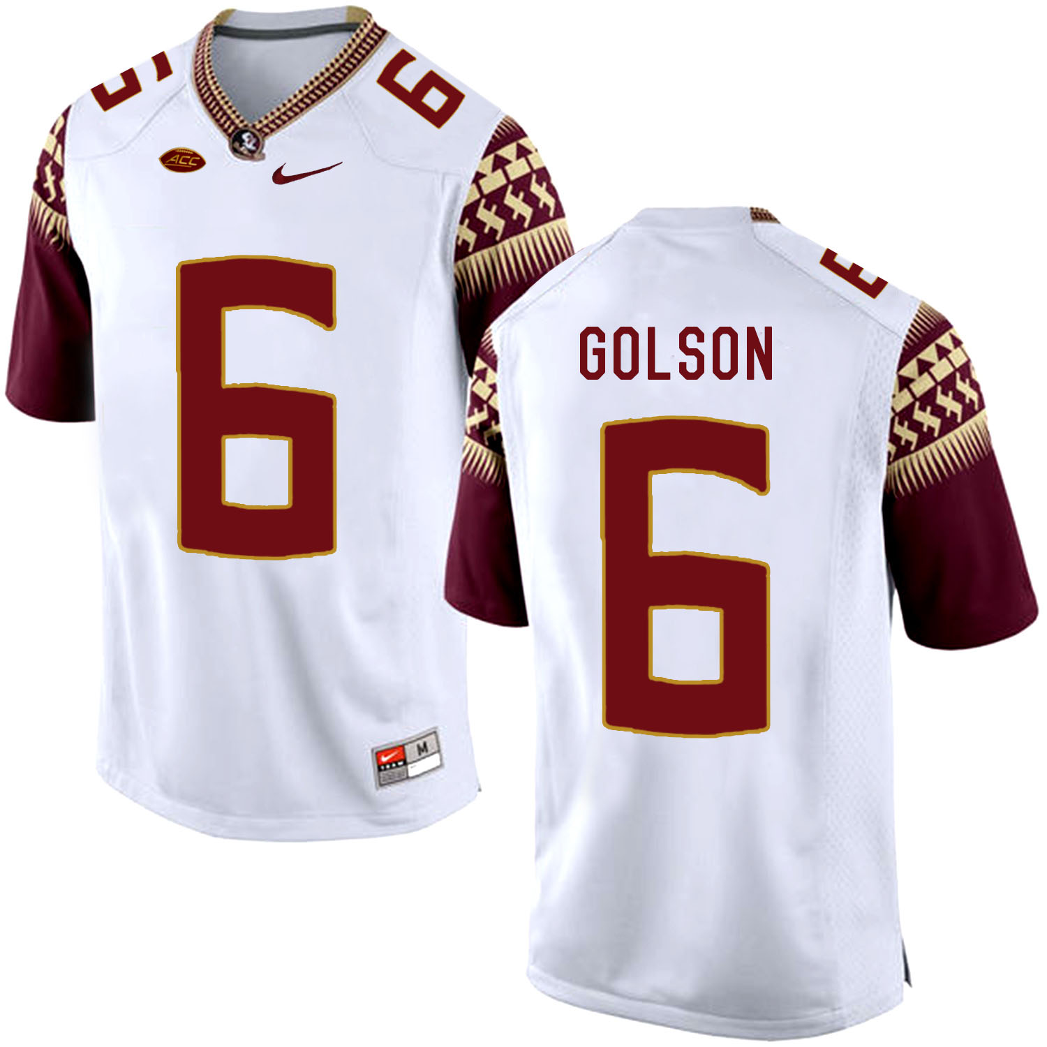 Florida State Seminoles 6 Everett Golson White College Football Jersey
