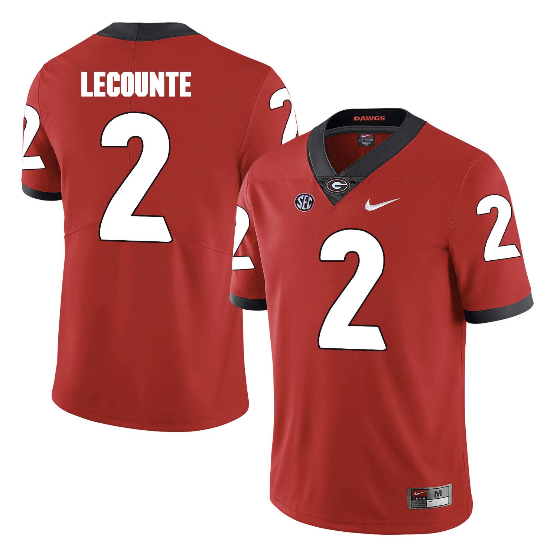 Georgia Bulldogs 2 Richard LeCounte Red College Football Jersey