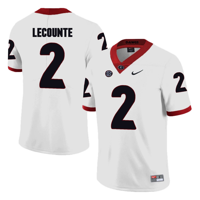 Georgia Bulldogs 2 Richard LeCounte White College Football Jersey