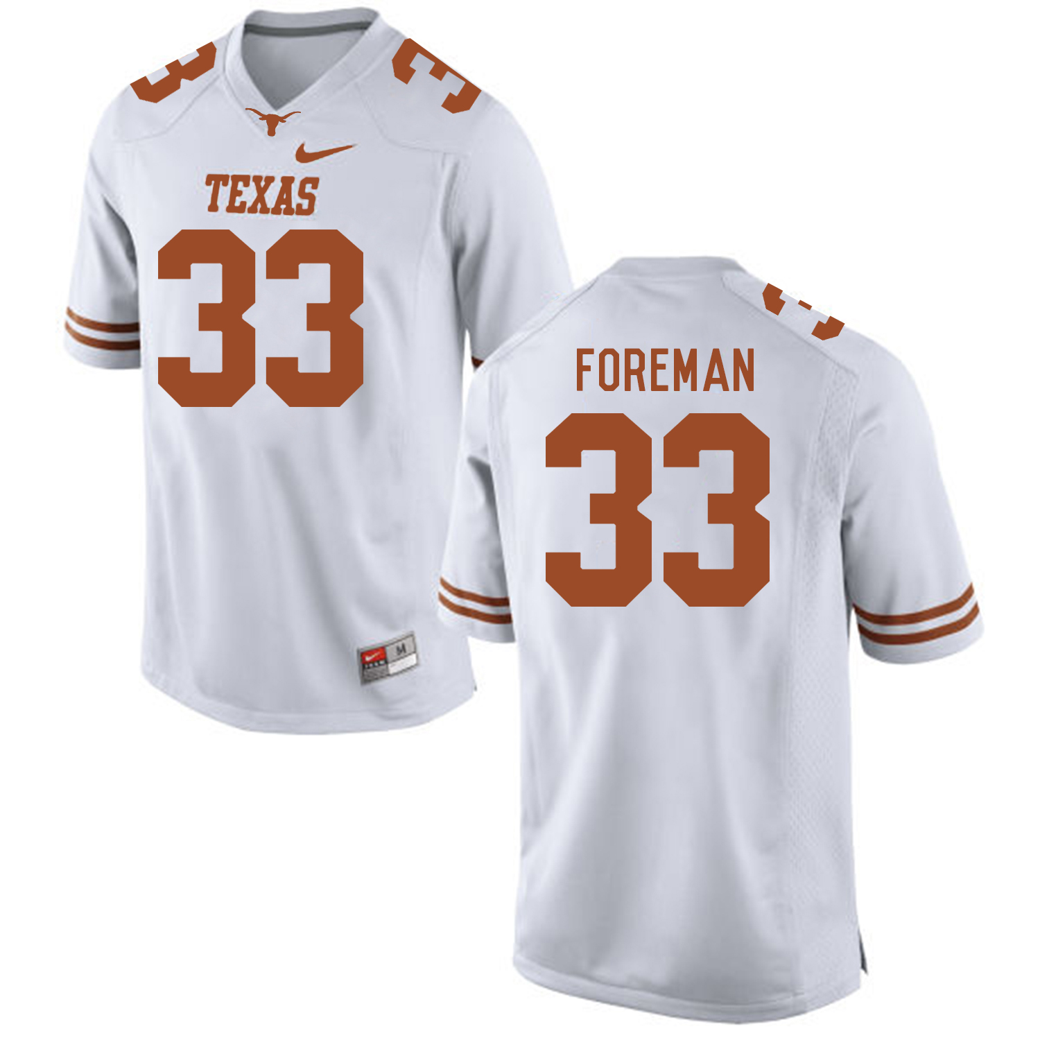 Texas Longhorns 33 D'Onta Foreman White College Football Jersey