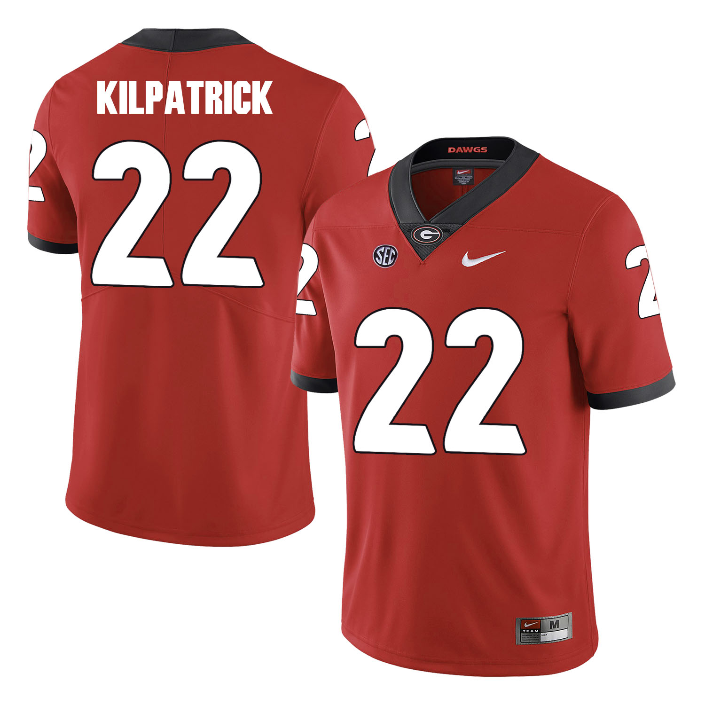 Georgia Bulldogs 22 Rhonda Kilpatrick Red College Football Jersey