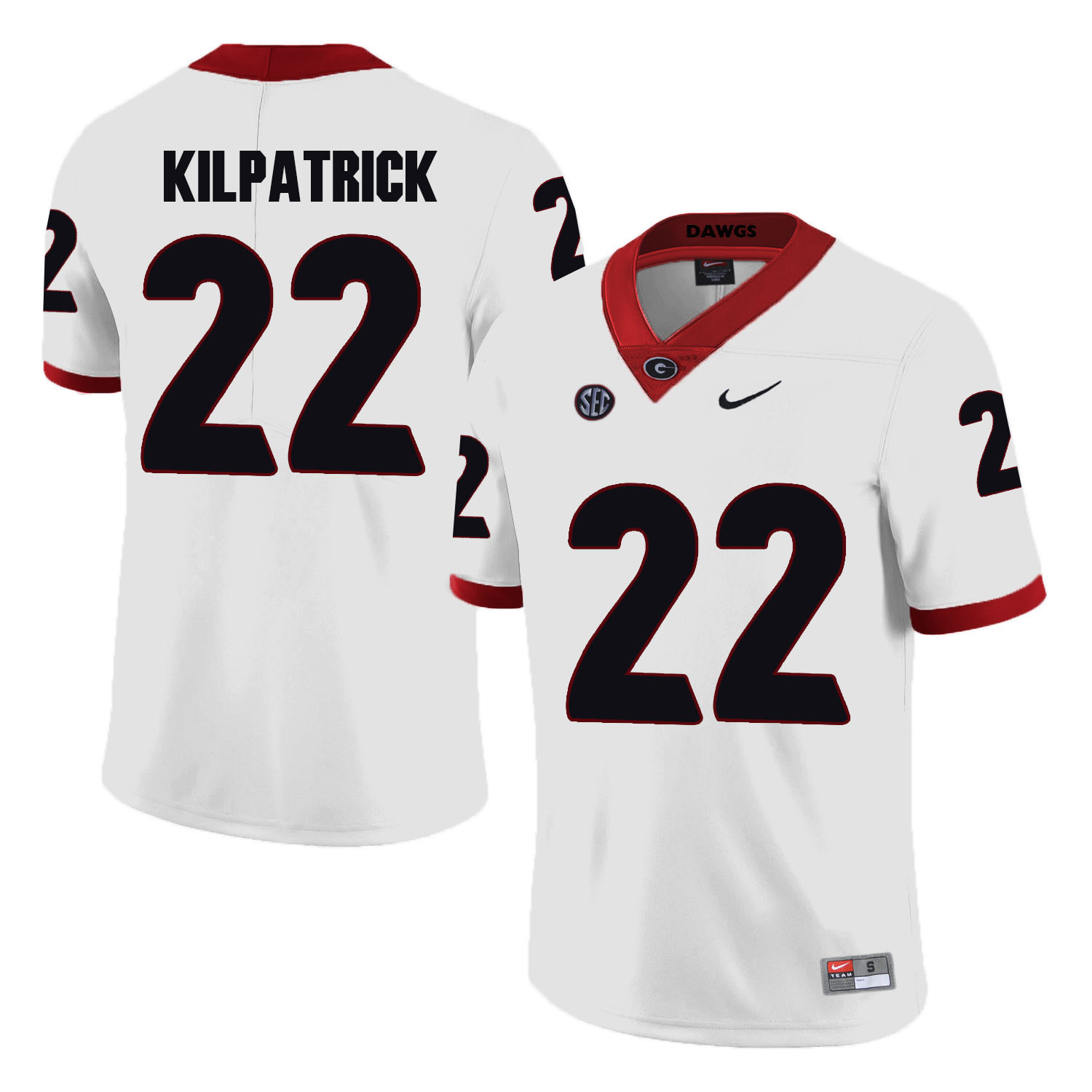 Georgia Bulldogs 22 Rhonda Kilpatrick White College Football Jersey