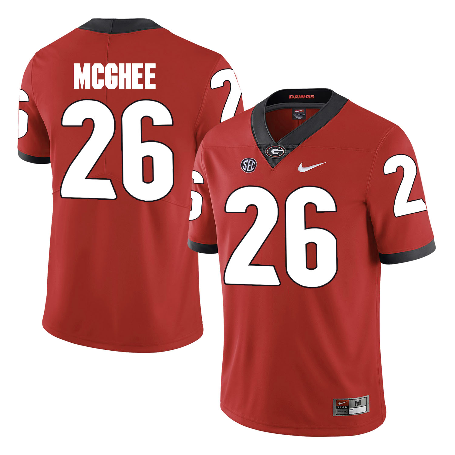 Georgia Bulldogs 26 Tyrique McGhee Red College Football Jersey